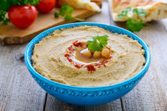 Hummus from chickpea and sesame Stock Photo