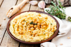 Hummus with chickpeas Stock Photos