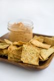 Hummus and Chips Stock Image