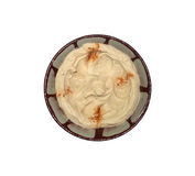 Hummus dans la plaque libanaise traditionnelle d'isolement Photo libre de droits