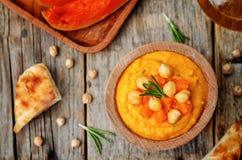 Hummus dos alecrins da abóbora imagens de stock
