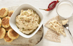 Hummus e Falafel casalinghi Immagine Stock Libera da Diritti