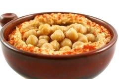 Hummus e grãos-de-bico Fotos de Stock