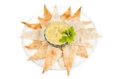 Hummus e pita immagini stock