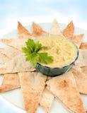 Hummus e pita fotografia stock