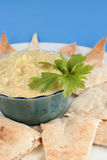Hummus e pita Imagens de Stock Royalty Free