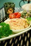 Hummus et pois chiches Photo stock
