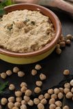 Hummus, everyday meals in Israel made from chickpeas and ingredi. Hummus, dip of spread, everyday meals in Israel made from chickpeas and ingredients that Royalty Free Stock Photos