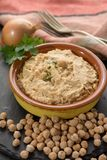 Hummus, everyday meals in Israel made from chickpeas and ingredi. Hummus, dip of spread, everyday meals in Israel made from chickpeas and ingredients that Royalty Free Stock Image