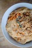 Hummus fait maison Photographie stock libre de droits