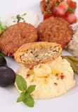 Hummus and falafel Royalty Free Stock Images