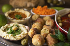 Hummus and falafel Stock Photo