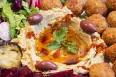 Hummus and falafel Royalty Free Stock Photos