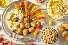 Hummus and falafel stock photography