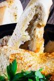 Hummus fresco con prezzemolo Fotografia Stock Libera da Diritti