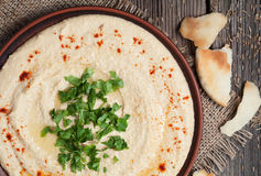 Hummus healthy dieting nutrition food, full of Stock Photos