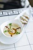 Hummus houmous middle east vegetarian chickpea dip snack food Stock Image