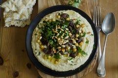Hummus with lamb Royalty Free Stock Image