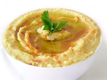 Hummus (Lebanese food) Stock Photo