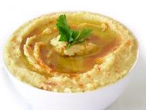 Hummus (Libanees voedsel) Stock Foto