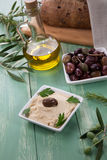Hummus - Mediterranean snack Royalty Free Stock Images