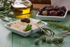 Hummus - Mediterranean snack Stock Image