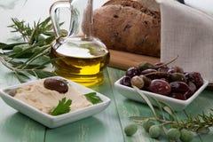 Hummus - Mediterranean snack Stock Photos