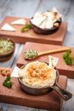 Hummus met Pita Chips Royalty-vrije Stock Foto's