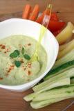 Hummus mit Veggies Lizenzfreie Stockfotografie