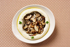 Hummus with Mushrooms Stock Image