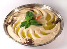 Free Hummus On A Tray Stock Image - 79791