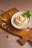 Hummus op de lijst Royalty-vrije Stock Afbeelding