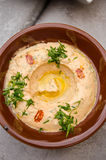 Hummus with paprika Royalty Free Stock Photo