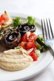 Hummus and persian salad royalty free stock photo