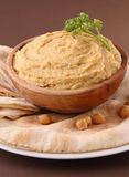 Hummus and pita Stock Images
