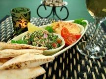 Hummus And Pita Bread Stock Photography