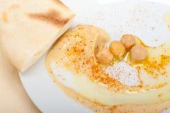 Hummus with pita bread Stock Image