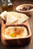 Hummus with pita Royalty Free Stock Photography