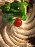 Hummus, primo piano Fotografia Stock