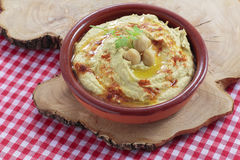 Hummus recept Royaltyfria Bilder