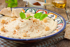 Hummus sauce Royalty Free Stock Photography