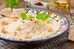 Hummus sauce Royalty Free Stock Photography
