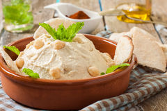 Hummus sauce Stock Image
