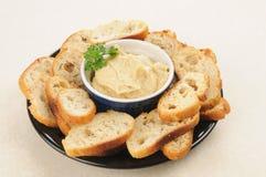 Hummus snack plate Stock Image