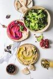 Hummus spread variety Stock Image
