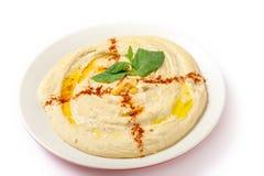 Hummus talerz fotografia stock