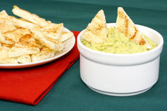 Hummus with tandoori naan Royalty Free Stock Photo