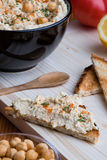 Hummus with toast Royalty Free Stock Images