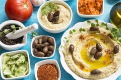 Hummus fotografia de stock royalty free