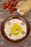 Hummus. The traditional Middle Eastern hummus Royalty Free Stock Photography